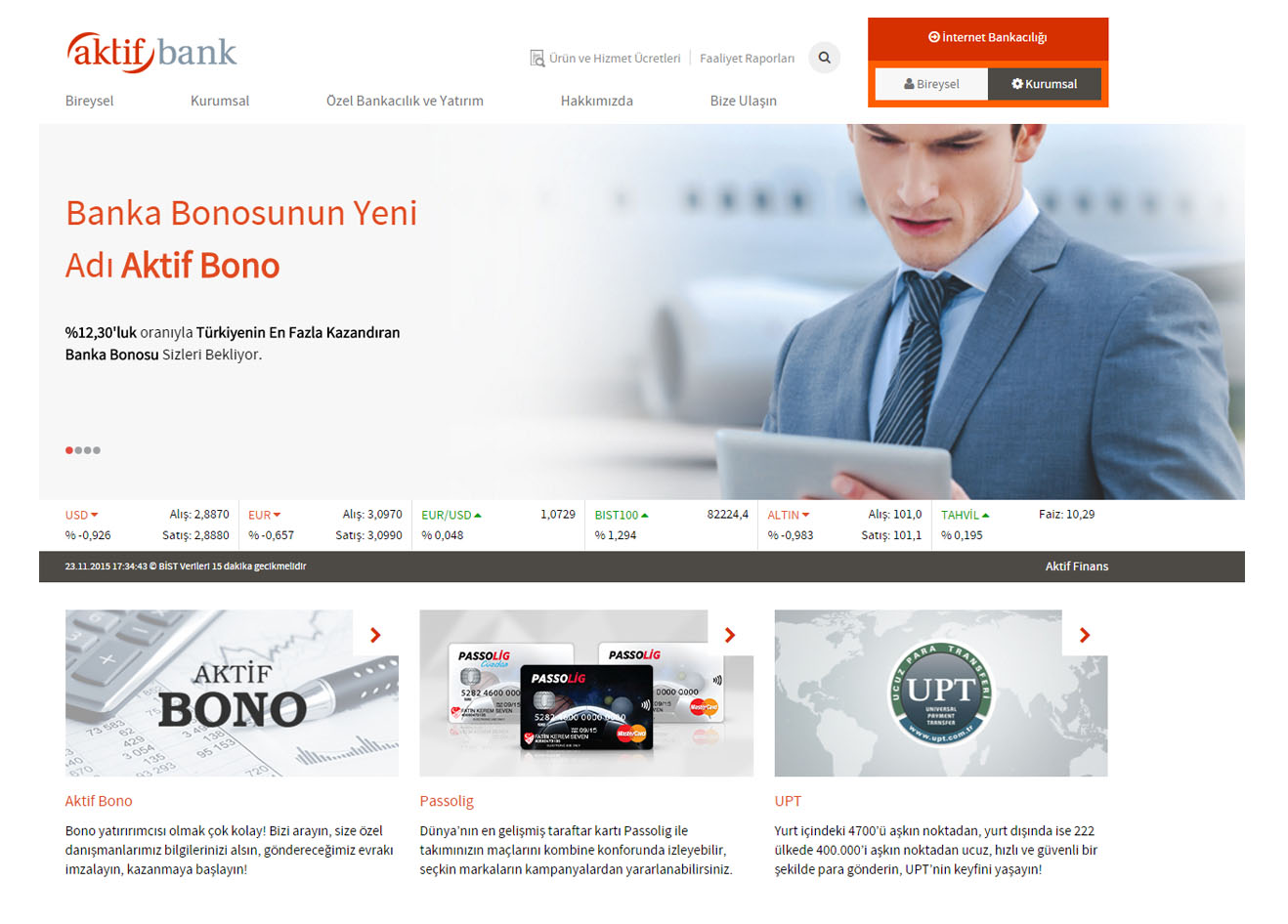 AKTİF BANK SHAREPOINT 2013 KURUMSAL WEB SİTESİ