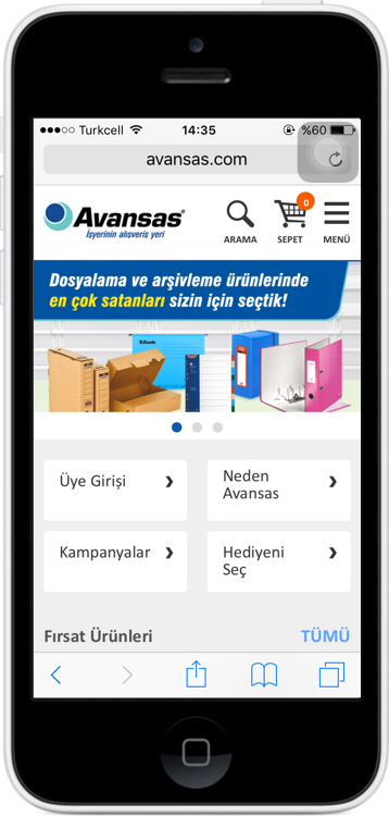 AVANSAS MOBİL E-TİCARET SİTE PROJESİ