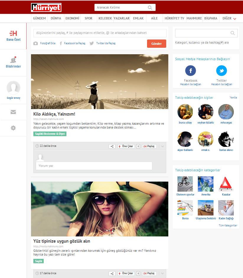 HÜRRİYET SOSYAL WEB SİTESİ