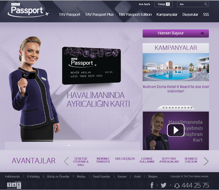 TAV PASSPORT SHAREPOINT 2010 WEB SİTESİ