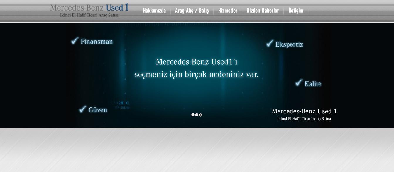 MERCEDES - BENZ TÜRK USED 1 WEB SİTESİ PROJESİ