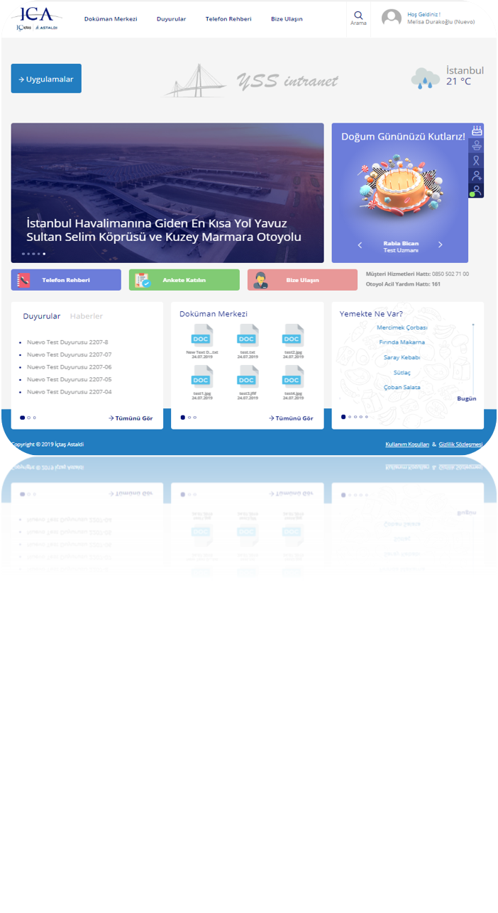 ICA SharePoint 2019 Kurumsal Portal Projesi
