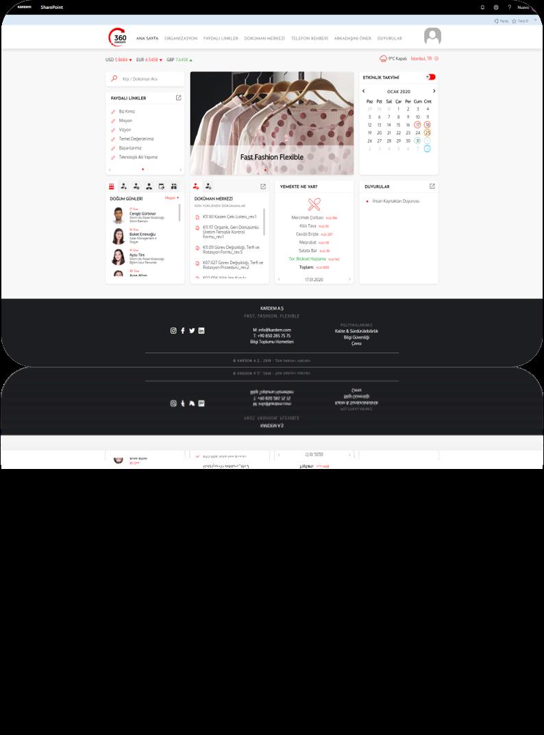 Kardem SharePoint Online Kurumsal Portal Projesi