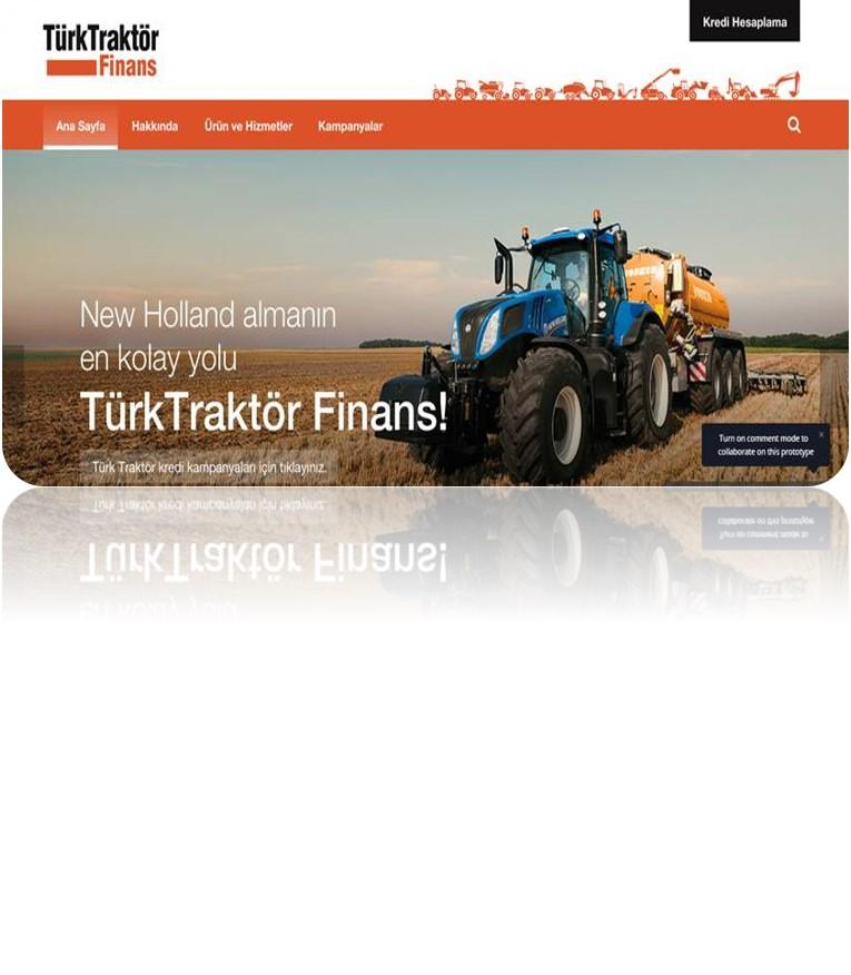 Türk Traktör Finans Web Sitesi Projesi