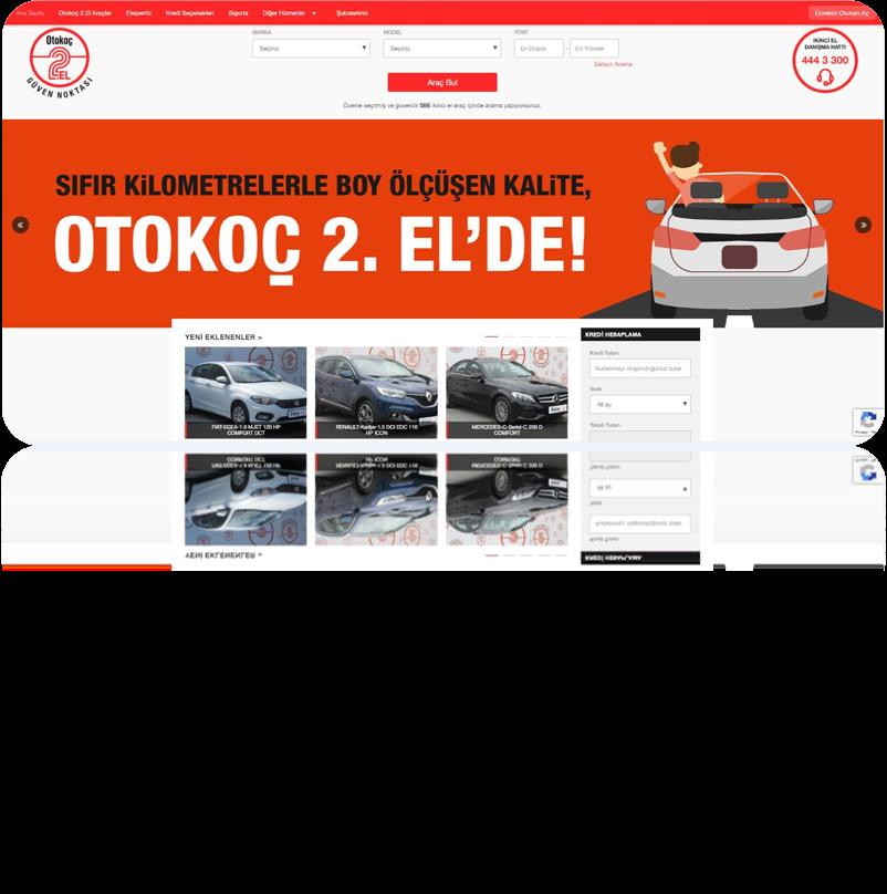 Otokoç İkinci El Araç Web Sitesi Projesi